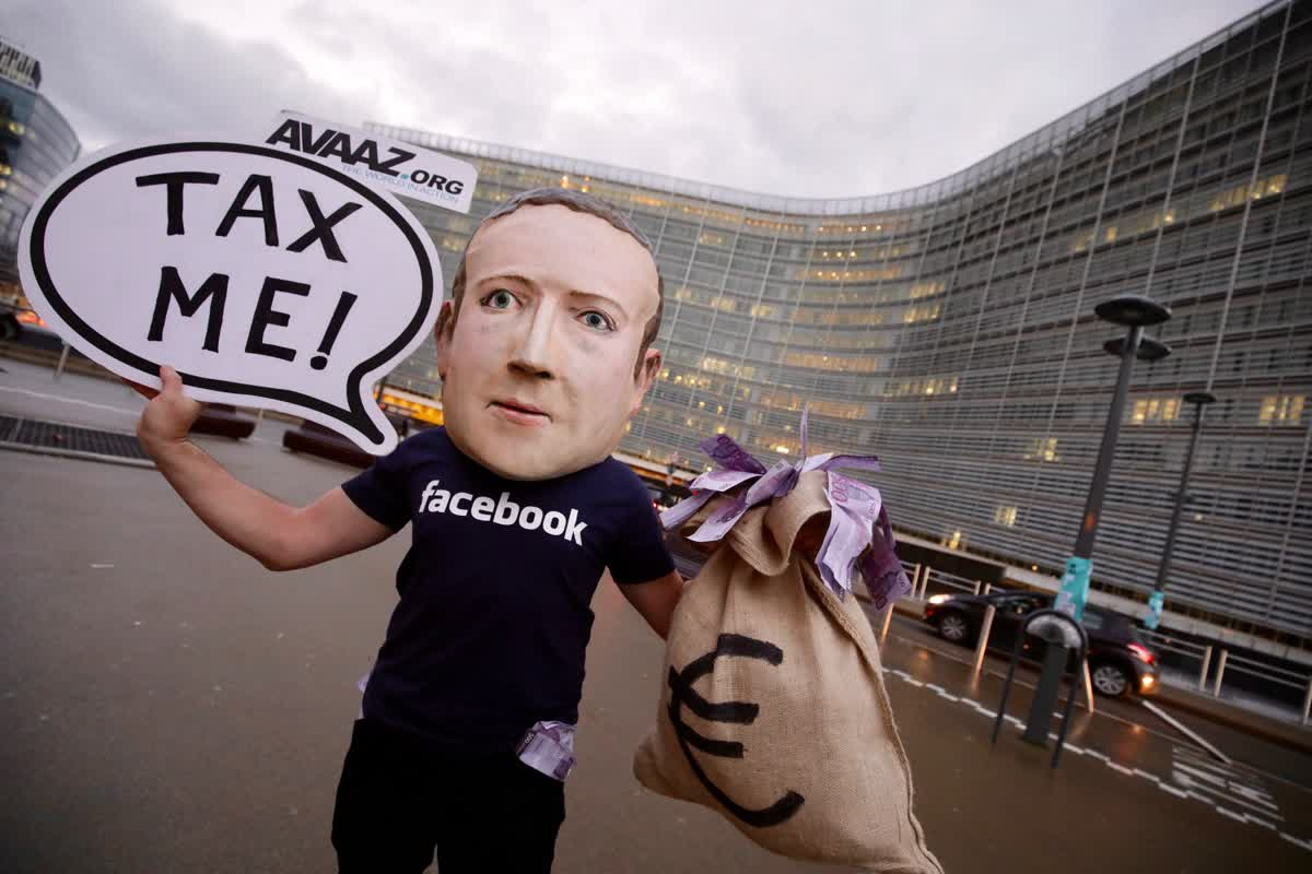 Digital Tax Now ! Bruxelles, décembre 2018  © Avaaz